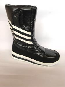 Фото Обувь зимняя женская, сапоги, ботинки Сапоги дутики женские аляска K&G 33 черные спортивные