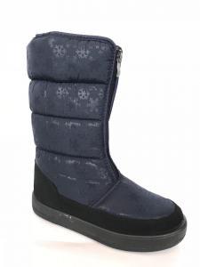 Фото Обувь зимняя женская, сапоги, ботинки Сапоги дутики женские аляска КИЕВ синие (замок) -2