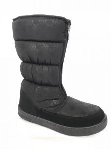Фото Обувь зимняя женская, сапоги, ботинки Сапоги дутики женские аляска КИЕВ черные (замок) - 2