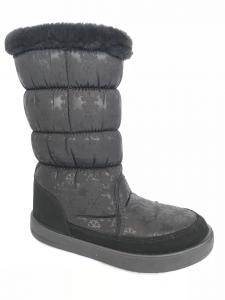 Фото Обувь зимняя женская, сапоги, ботинки Сапоги дутики женские аляска КИЕВ черные (опушка) - 3