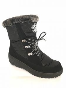 Фото Обувь зимняя женская, сапоги, ботинки Сапоги дутики женские аляска Verta черные на шнурках