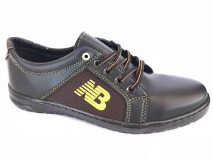 Фото Спортивные туфли и мокасины мужские Туфли спортивный на шнурках мужские черный ANKOR №41(кор)
