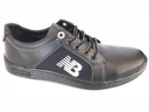 Фото Спортивные туфли и мокасины мужские Туфли спортивный на шнурках мужские черный ANKOR №41(син)
