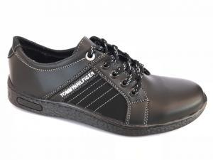Фото Спортивные туфли и мокасины мужские Туфли спортивный на шнурках мужские черный ANKOR №31