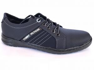 Фото Спортивные туфли и мокасины мужские Туфли спортивный на шнурках мужские черный ANKOR №31(син)