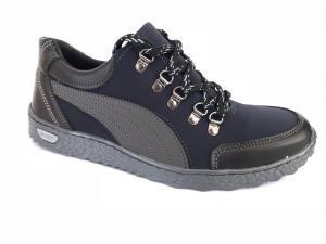 Фото Спортивные туфли и мокасины мужские Туфли спортивный на шнурках мужские синий ANKOR №51
