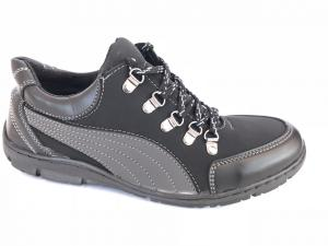 Фото Спортивные туфли и мокасины мужские Туфли спортивный на шнурках мужские черный ANKOR №52