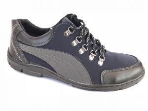 Фото Спортивные туфли и мокасины мужские Туфли спортивный на шнурках мужские синий ANKOR №52