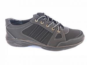 Фото Спортивные туфли и мокасины мужские Туфли спортивный на шнурках мужские черный Pilot - K-23/2