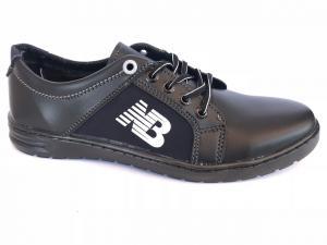 Фото Спортивные туфли и мокасины мужские Туфли спортивный на шнурках мужские черный ANKOR №41(синий)