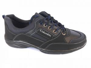 Фото Спортивные туфли и мокасины мужские Туфли спортивный на шнурках мужские синий Comfort T-10