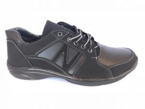 Фото Спортивные туфли и мокасины мужские Туфли спортивный на шнурках мужские черный Pilot - SP-NB