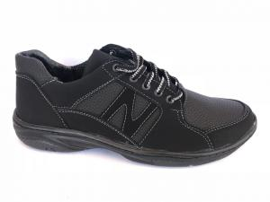Фото Спортивные туфли и мокасины мужские Туфли спортивный на шнурках мужские черный Pilot - SP-NB(1)