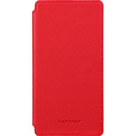 """Чехол для мобильного телефона Partner Book-case размер 3.8"""", красный"""