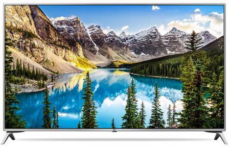 "Телевизор 43"" LG 43UJ651V серебристый 3840x2160 Wi-Fi Smart TV Bluetooth S/PDIF RJ-45"