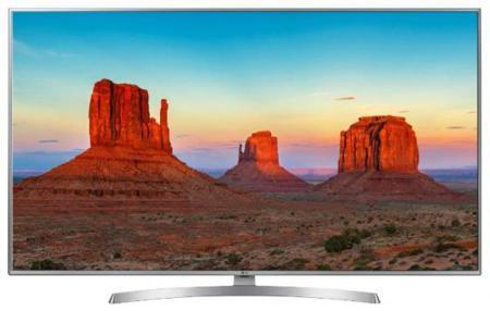 "Телевизор 55"" LG 55UK6510PLB серебристый 3840x2160 100 Гц Wi-Fi Smart TV RJ-45 Bluetooth"