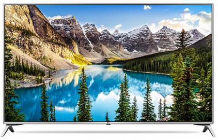 "Телевизор 49"" LG 49UJ651V серебристый черный 3840x2160 Wi-Fi Smart TV RJ-45 Bluetooth S/PDIF"