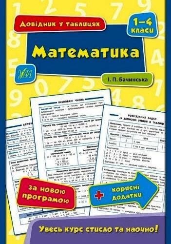 """Книга """"Математика. Довідник у таблицях. 1-4 класи"""""""