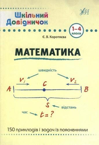 Математика 1-4 класи (шкільний довідничок)