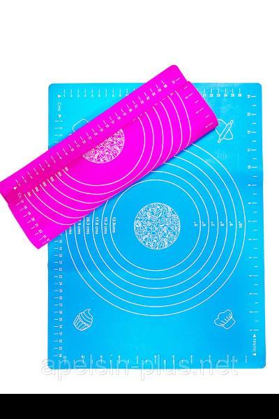 Фото  Силиконовый коврик для раскатки теста и выпечки 40 см 30 см