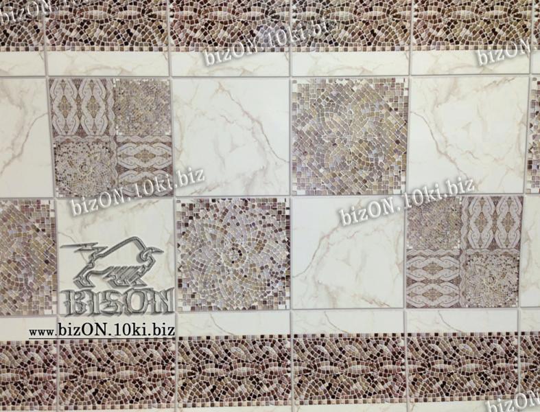 Фото Листовые панели ПВХ Панно «МРАМОРНАЯ МОЗАИКА» (3 листа в комплекте)   Листовые панели ПВХ
