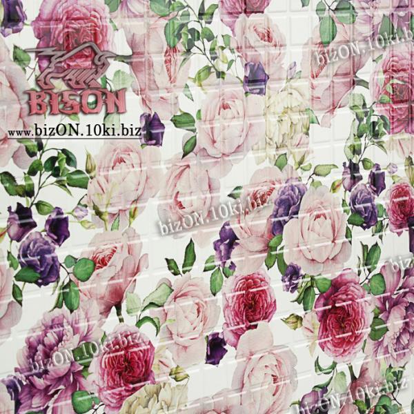 Фото Листовые панели ПВХ Панно «РОЗЫ» (3 листа в комплекте)   Листовые панели ПВХ