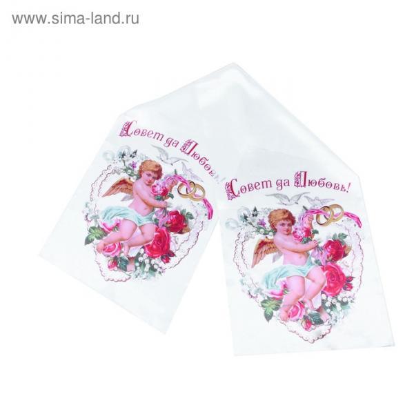 """Рушник свадебный """"Ангел"""" рисунок 32 х 40 см"""