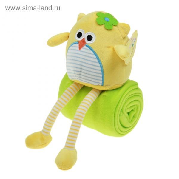 """Набор подарочный для новорождённых """"Этелька"""" Совунья: плед 75х100 см + игрушка"""