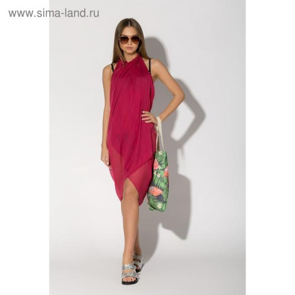 Парео размер 90х180 см, цвет бордовый