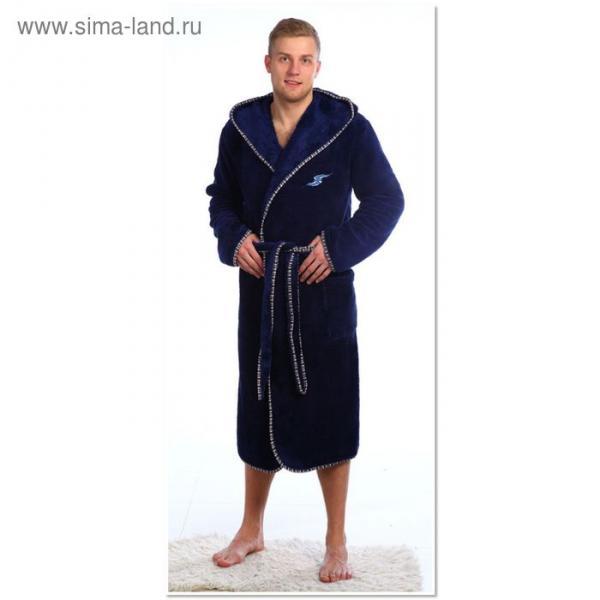 Халат мужской 956 темно-синий, р-р 56