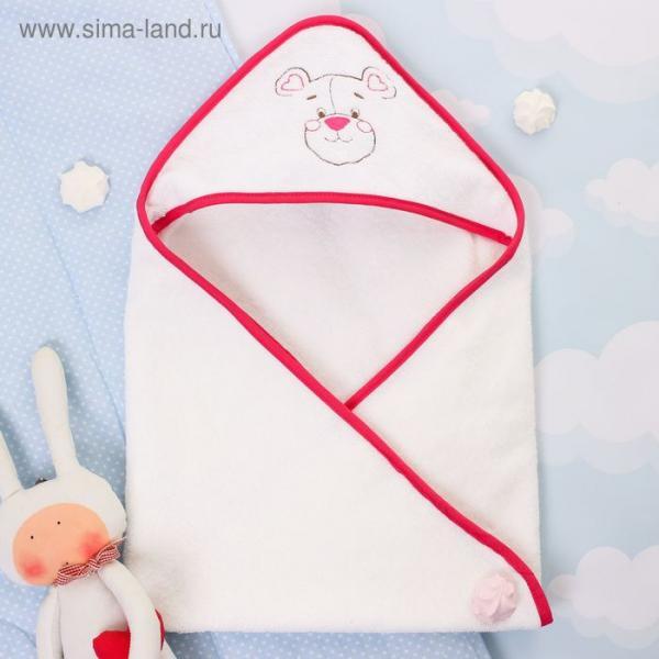 """Детское полотенце с капюшоном """"Крошка Я"""" Мишутка, размер 74 х 74 см"""