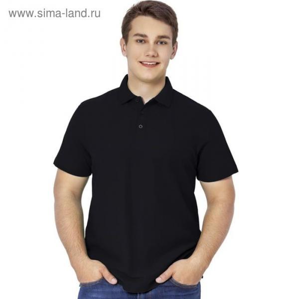 Рубашка-поло мужская StanPremier, размер 56, цвет чёрный 185 г/м 04