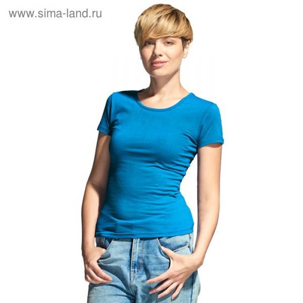 Футболка женская StanSlim, размер 42, цвет лазурный 180 г/м 37W