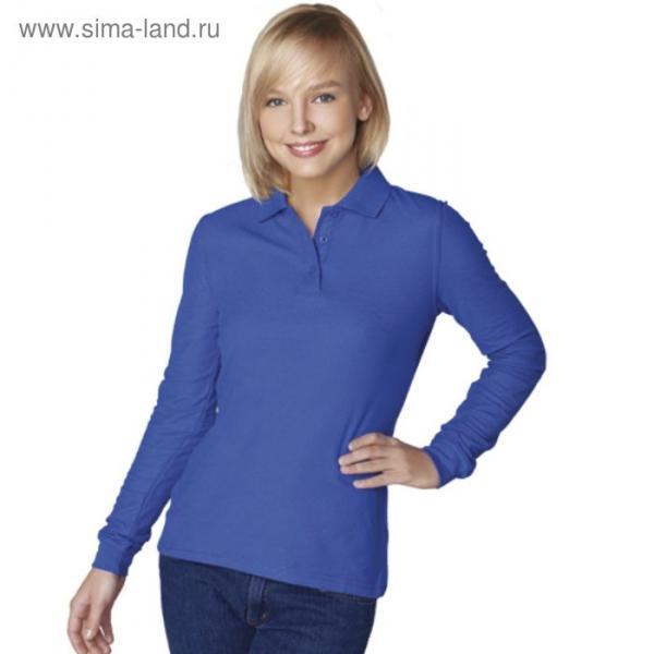 Рубашка-поло женская StanPolo, размер 44, цвет синий 185 г/м 04SW