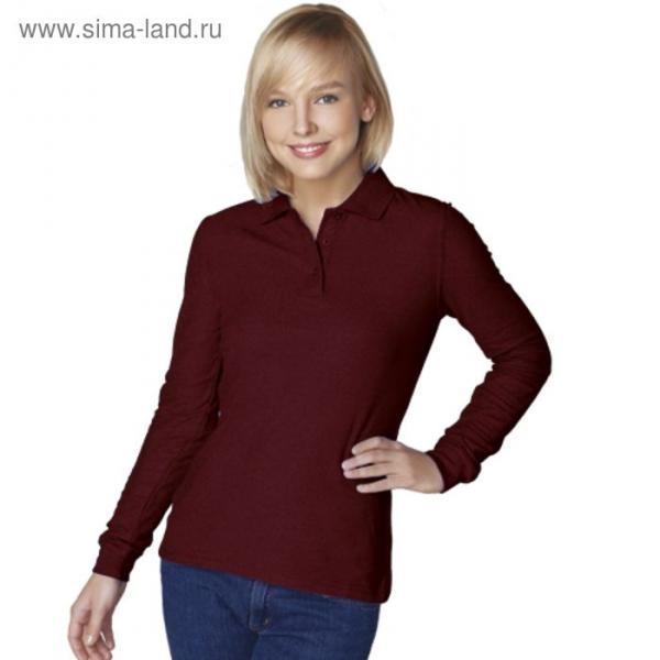 Рубашка-поло женская StanPolo, размер 46, цвет тёмно-шоколадный 185 г/м 04SW