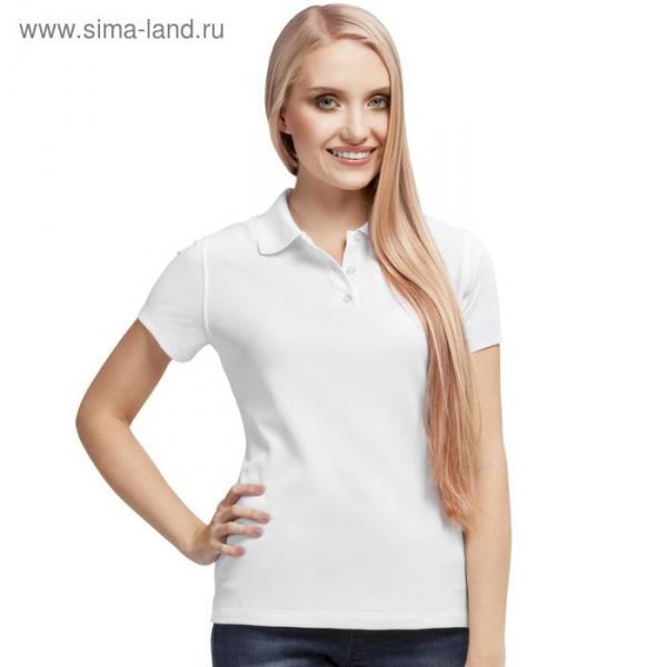 Рубашка-поло женская StanPoli, размер 48, цвет белый 180 г/м 04EW