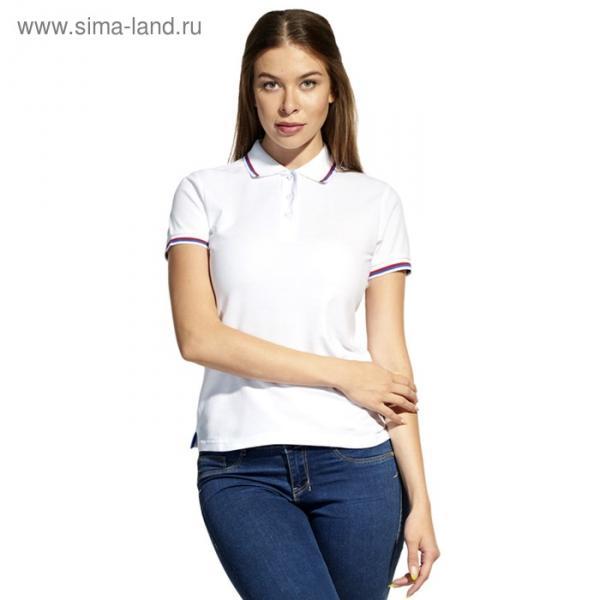 Рубашка-поло женская StanRussian, размер 52, цвет белый 185 м/г 04WRUS