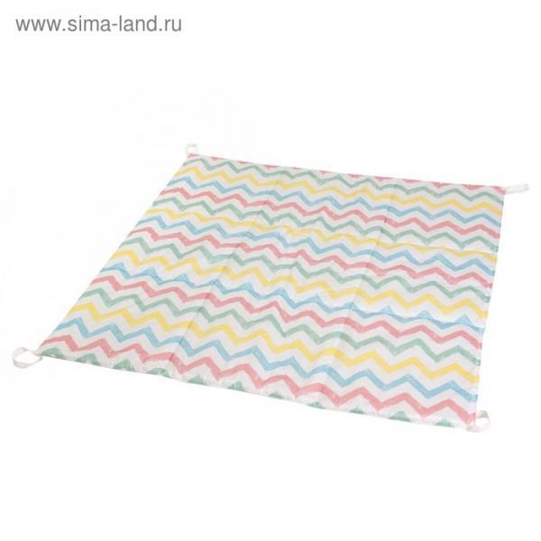 Игровой коврик для вигвама, хлопок, радужный зигзаг