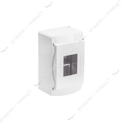 Коробка под 4 автомата BYLECTRICA КНО-4, без стекла, для наруж.монтажа (белая) Беларусь