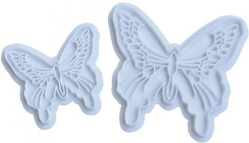 """Вырубка для мастики """"Бабочки ажурные"""" набор 2 форм"""