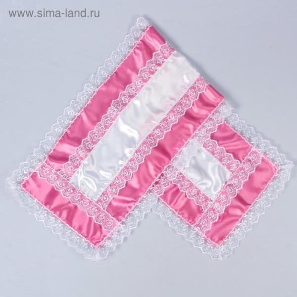 Рушник атлас, розовый