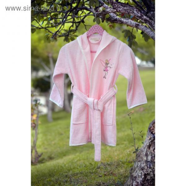 Халат детский с вышивкой, 3-5 лет, цвет розовый 2942