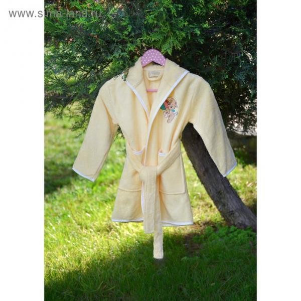 Халат детский с вышивкой, 3-5 лет, цвет жёлтый 2943