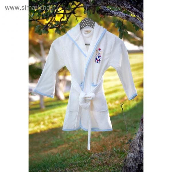 Халат для мальчика с вышивкой, 3-5 лет, цвет кремовый 2948