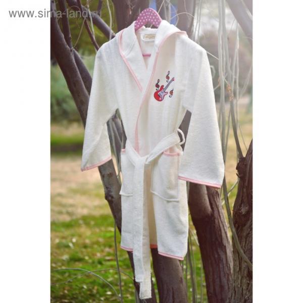 Халат для девочки Young с вышивкой, 12-14 лет, цвет крем 2955