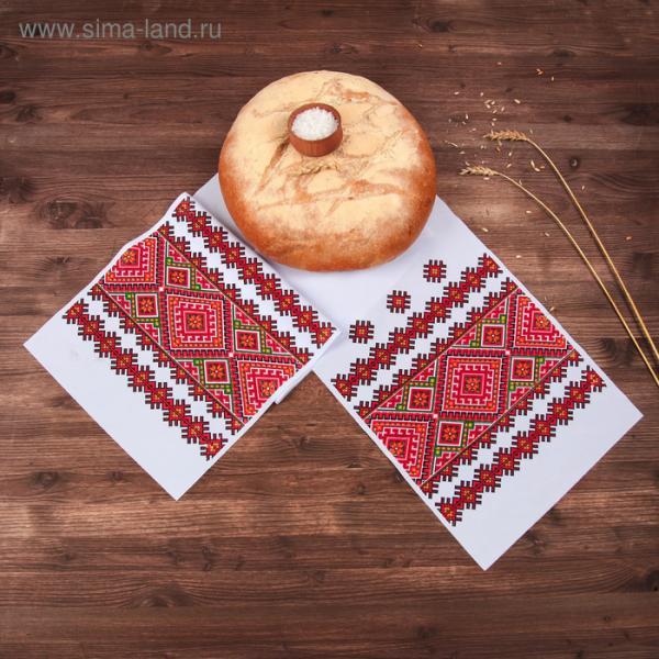 """Рушник с орнаментом """"Узоры"""", 150 х 24 см"""