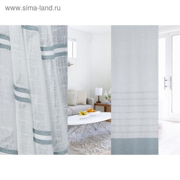 Ткань портьерная в рулоне, ширина 300 см, лён 95319