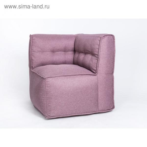 """Кресло угловое """"Комфорт"""", цвет сиреневый, рогожка"""