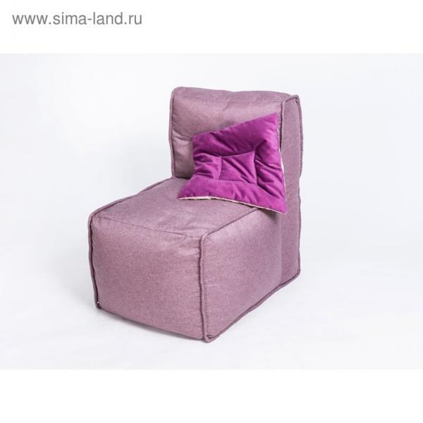 """Кресло прямое """"Комфорт"""", цвет сиреневый, рогожка"""