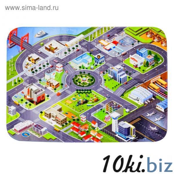Детский ультрамягкий игровой коврик «Город», размер 180х130 см купить в Гродно - Развивающие и игровые коврики